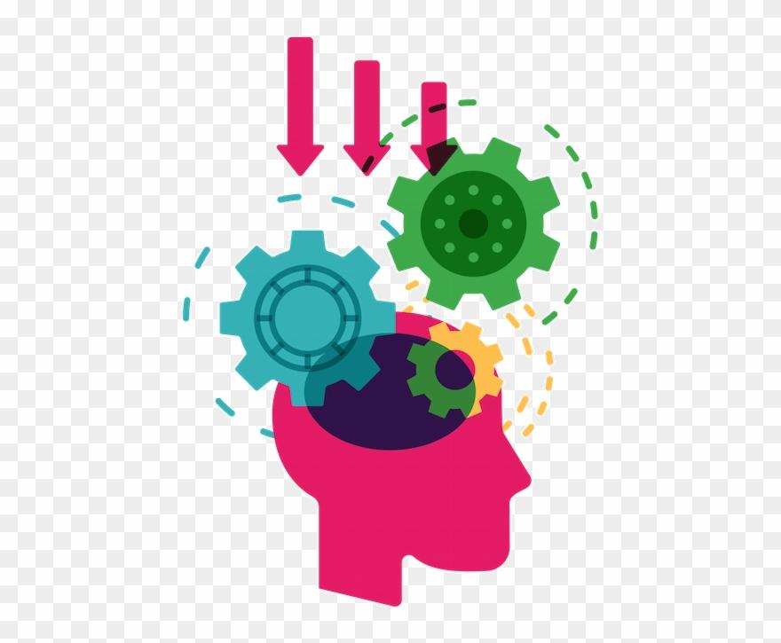 Brain gears. Knowledge clipart gear png