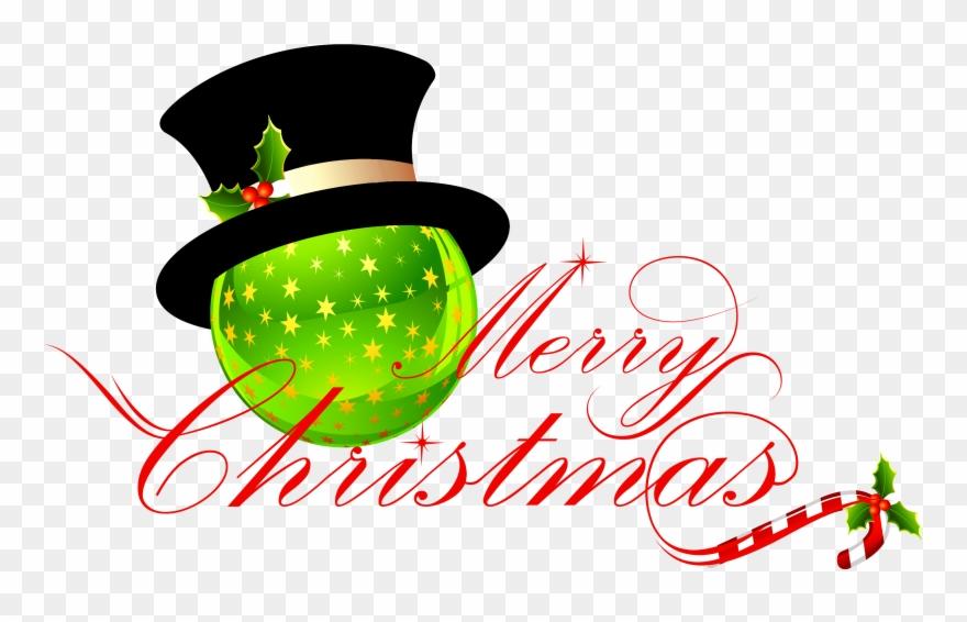 Merry Christmas No Background.Transparent Merry Christmas With Christmas Ornament Merry