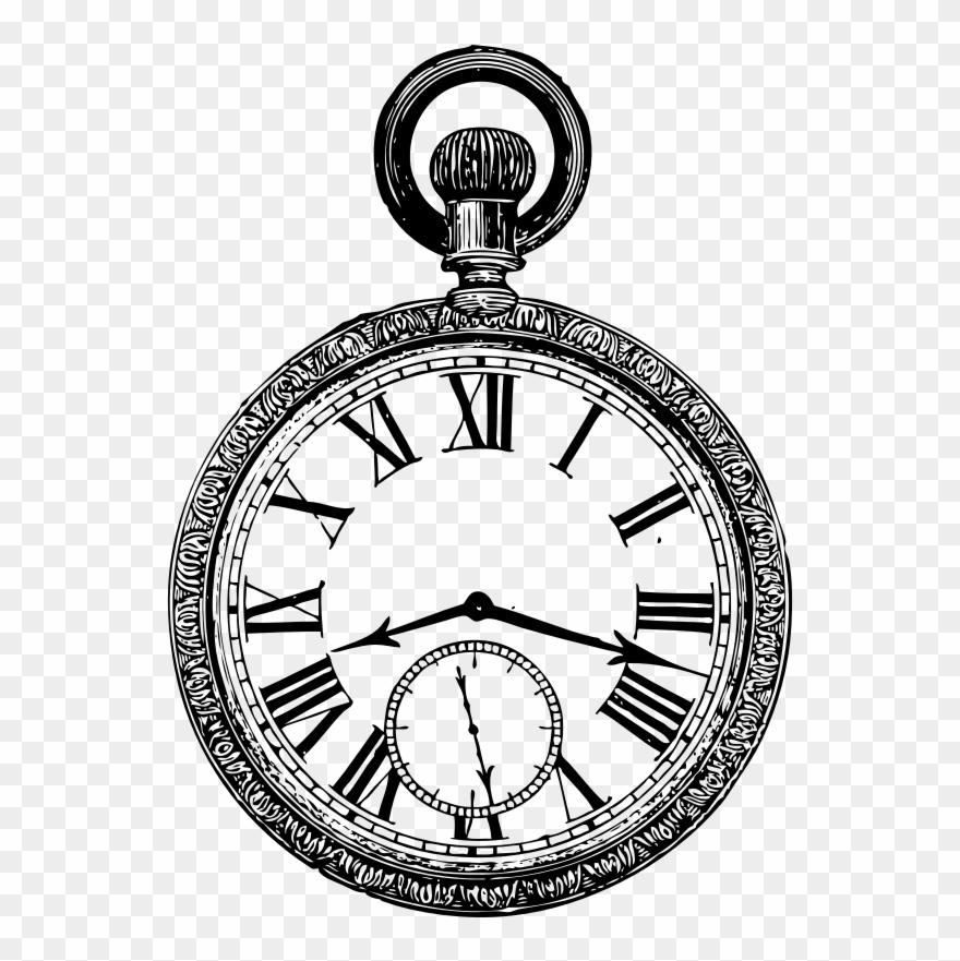 Reloj De Bolsillo Dibujo Clipart 1788201 Pinclipart