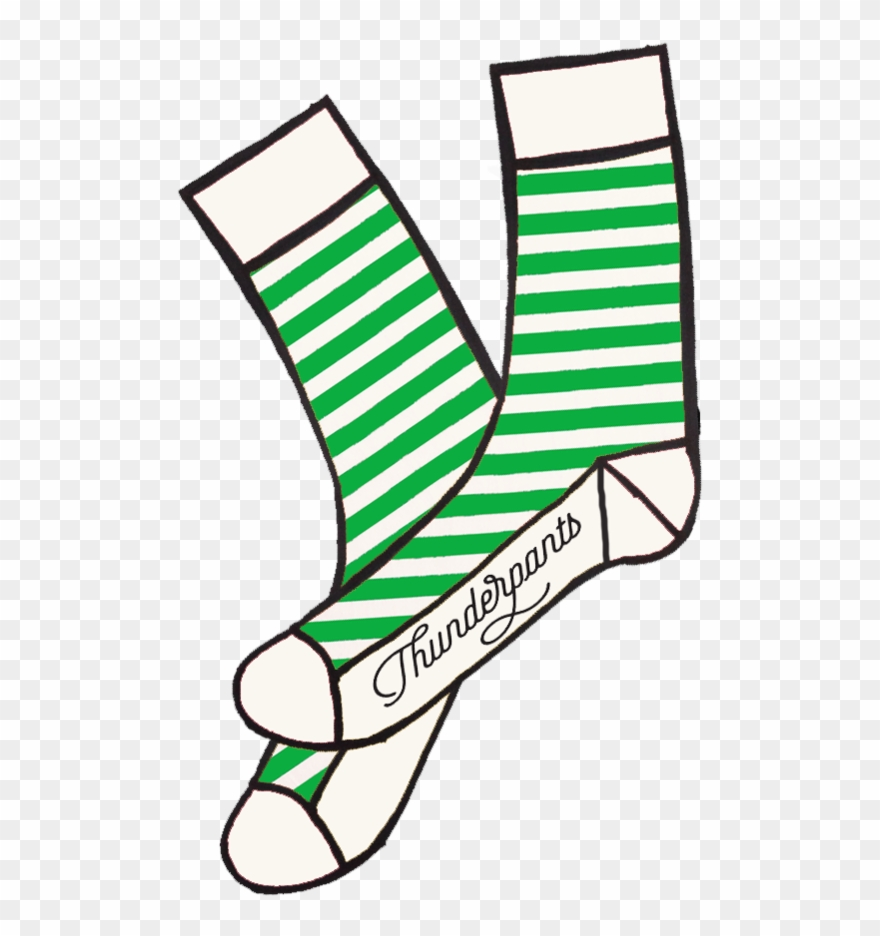 Socks Stripe Last Pair - Red And White Stripe Sock Clip Art - Png Download