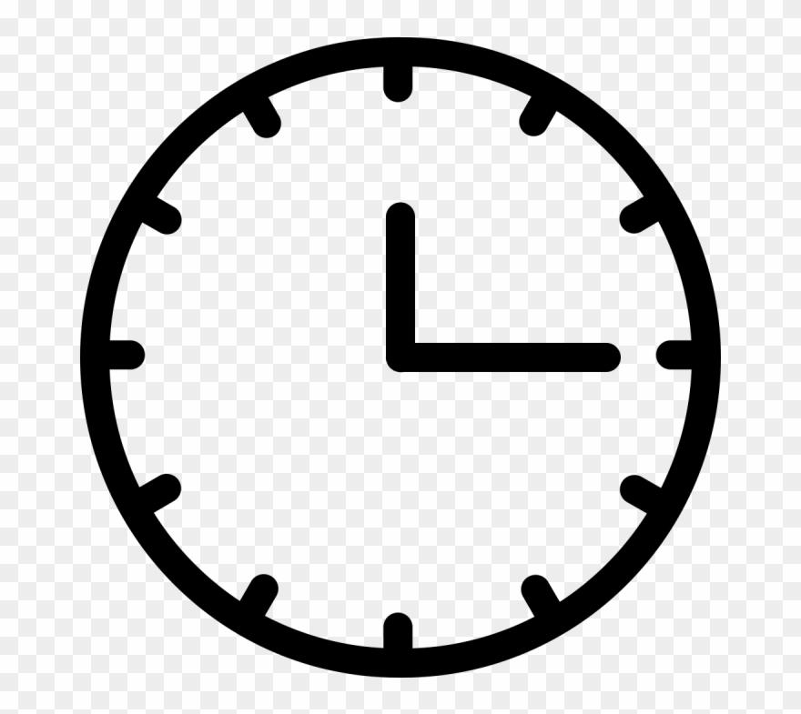 Analog Clock Vector - Go Back Icon White Clipart (#1788965