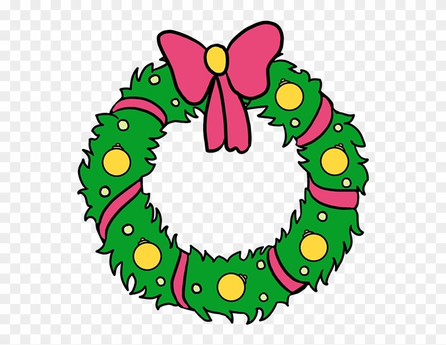 Christmas Wreath Drawing.How To Draw Christmas Wreath Christmas Wreath Drawing Easy