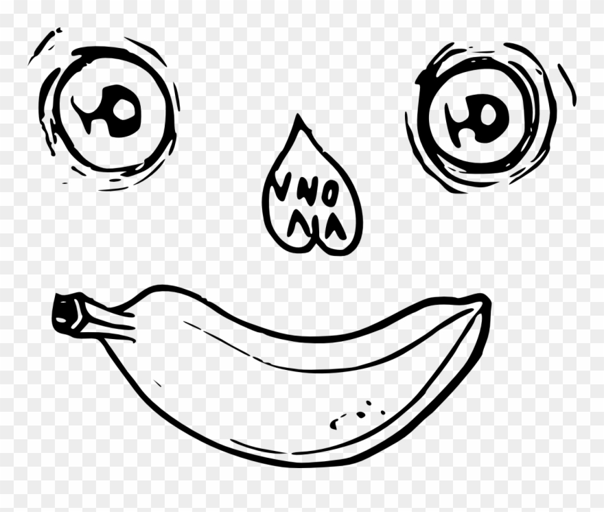 Banana Eye Face Clipart 1797088