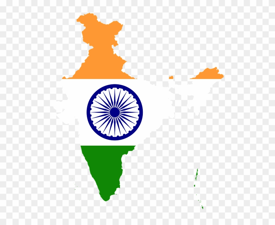 Borders, Country, Flag, Geography, Map, Nation, Asia - Our National Flag India Clipart