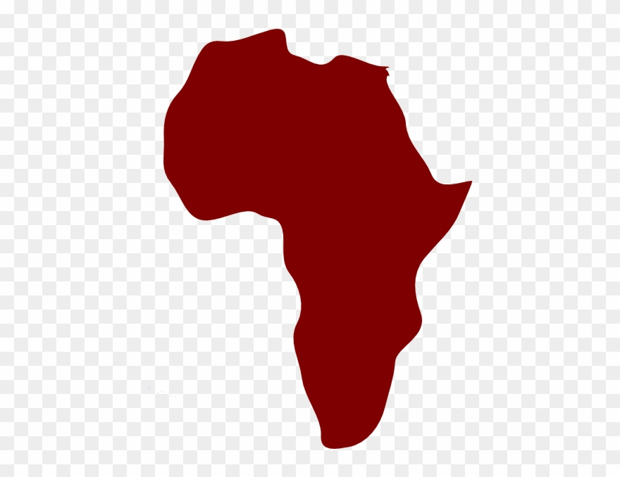 Banner Freeuse Stock Africa Clipart North   Red Africa Map Png