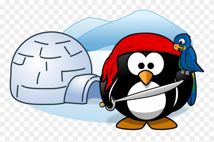 Antarctica Penguin Document Cartoon - Penguin With Igloo