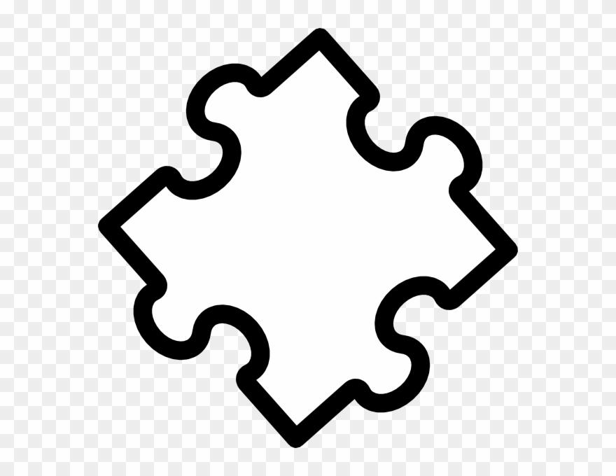 Puzzle piece. Jt clip art outline