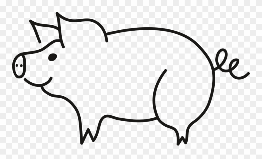 National Pig Day Drawing Piggy Bunny Coloring Book Pig Black And White Clipart Png Transparent Png 186400 Pinclipart