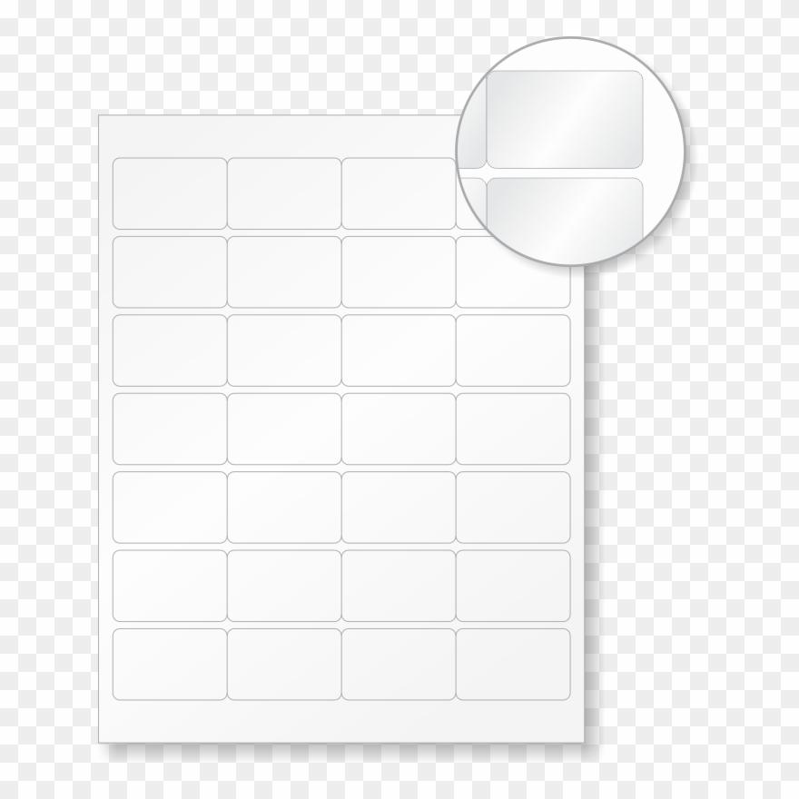 Laser Printer Safety Labels Blank Label Stationery - Circle