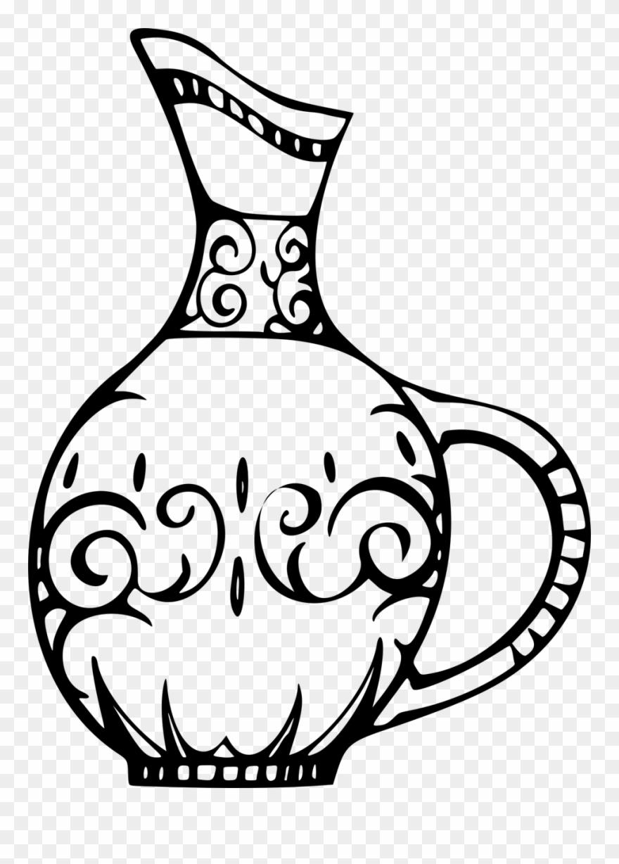 Pottery Vase Puter Icons Ceramic Download Sketsa Gambar