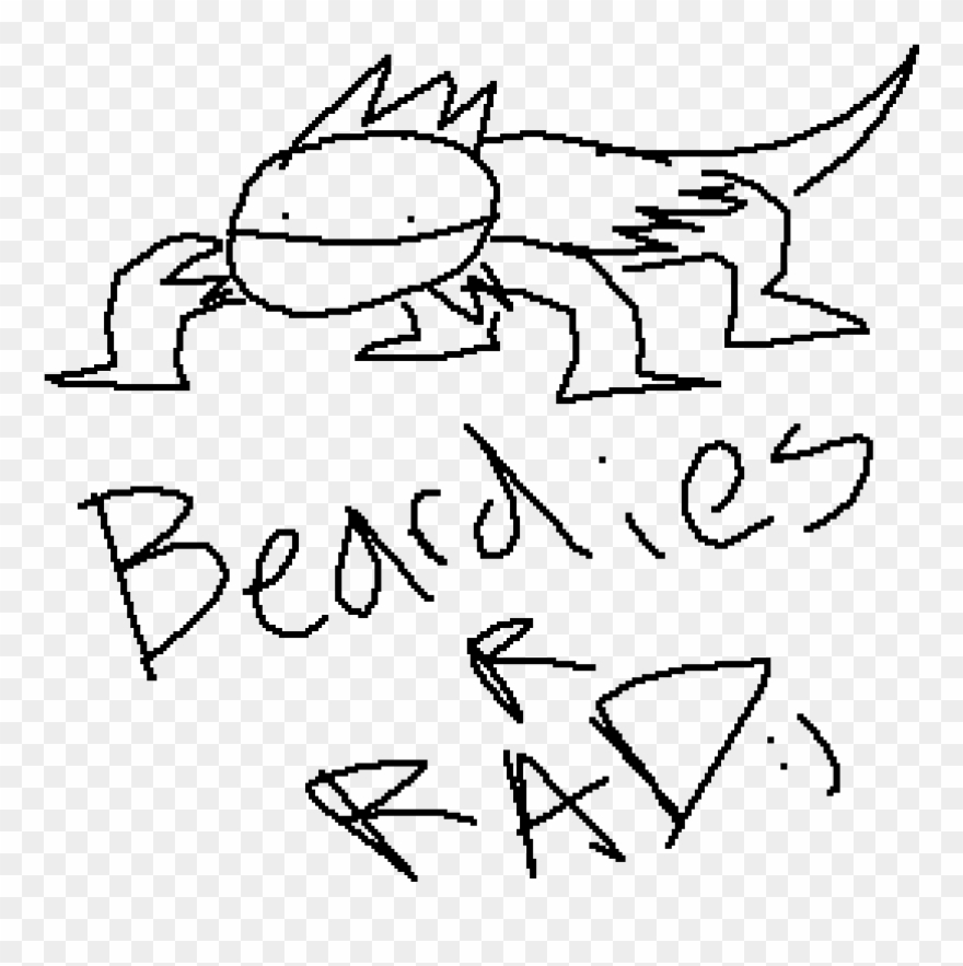 Mmmmmm Bearded Dragons Are Cool Drawing Clipart 1801976