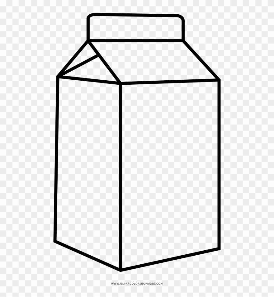 Milk Carton Coloring Page Desenho Caixa De Leite Para Colorir