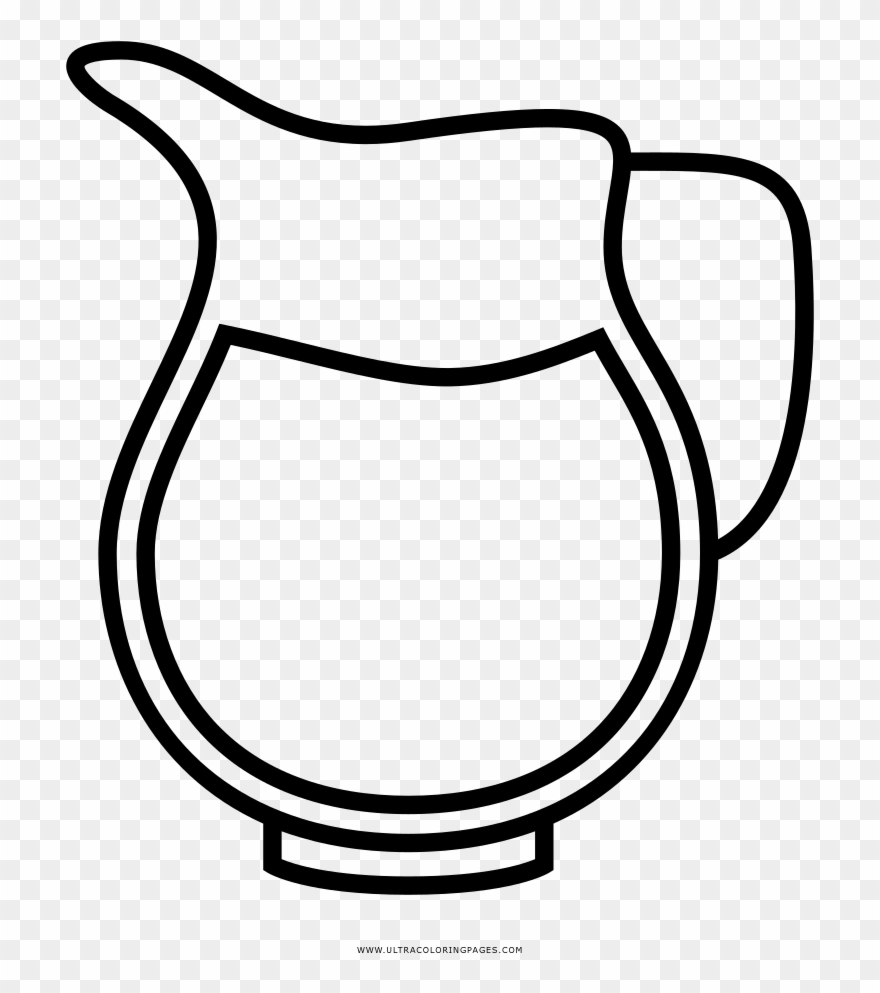 Jug Coloring Page Ultra Coloring Pages Flower Clipart ...