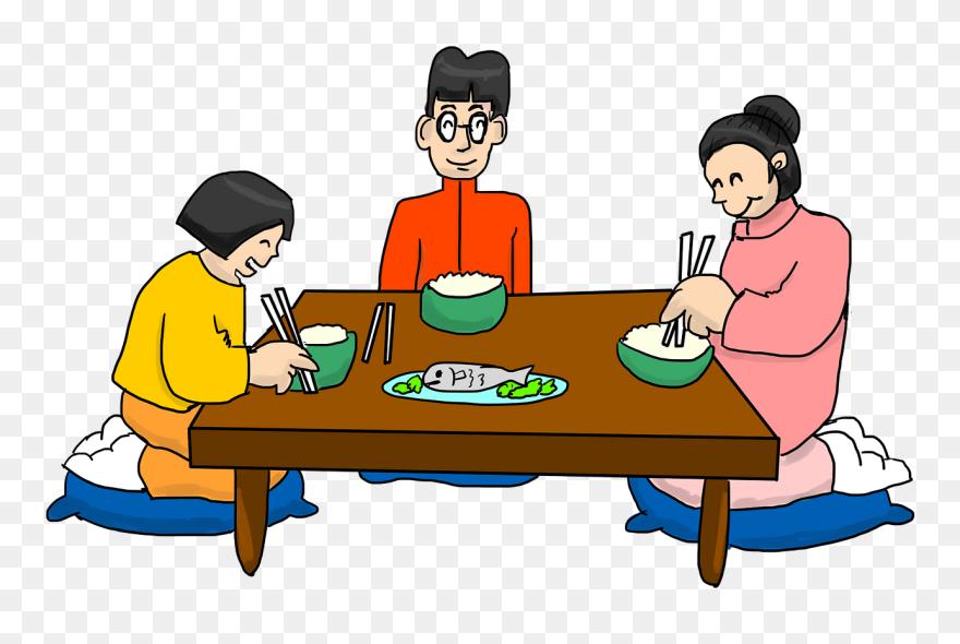 Eating Together Is Enjoyable - Family Eating Dinner ...