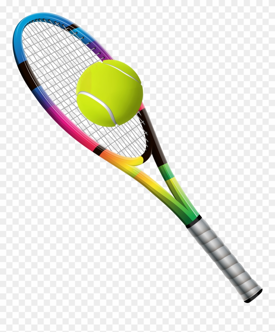 Tennis Racket And Ball Transparent Png Clip Art Image Tennis Racket Transparent Background 1833689 Pinclipart