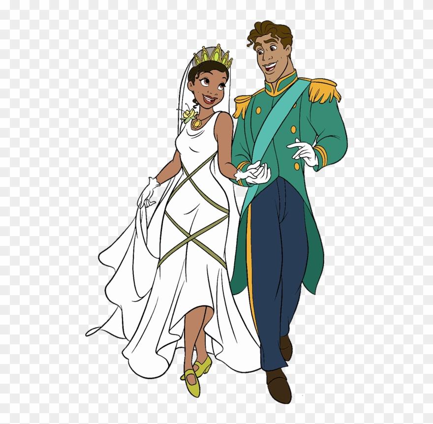Disney Princess Tiana Prince Naveen Clipart 1835675 Pinclipart