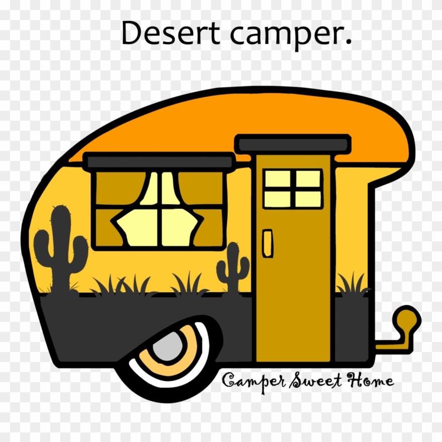 """""""desert"""" Camper Camper Sweet Home - Desert Camper Clipart"""