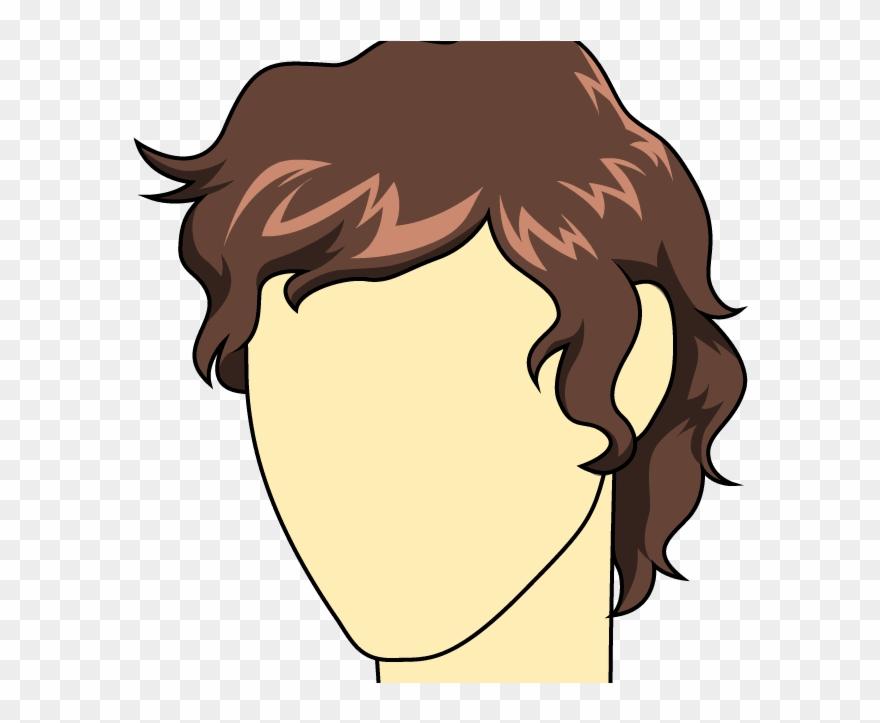 Clip Art Drawing Male Hair Brown Hair Men Draw Png Download
