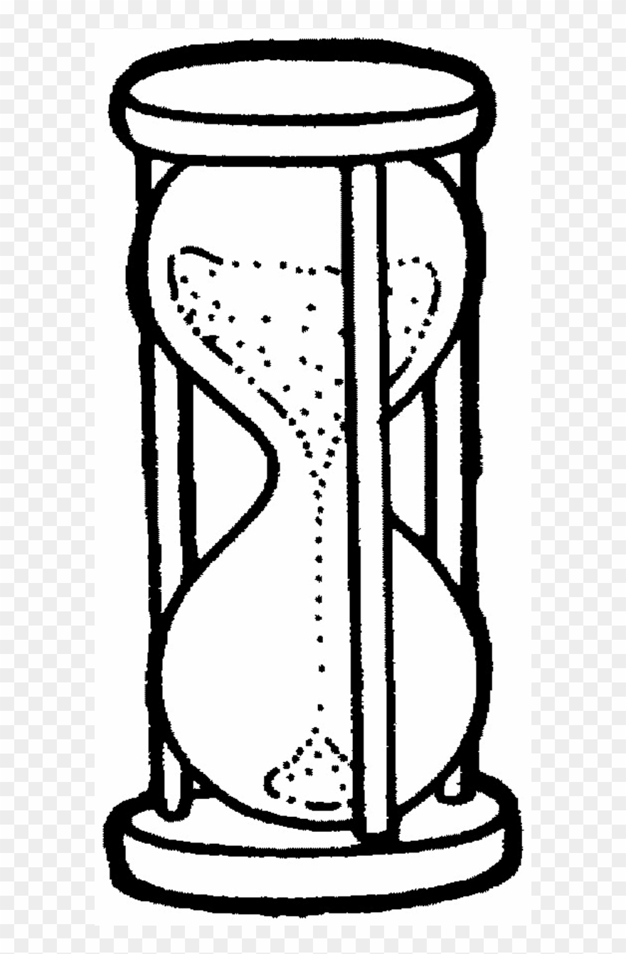 Sand Timer Coloring Page Coloring Time Clocks - Sand Clock Coloring