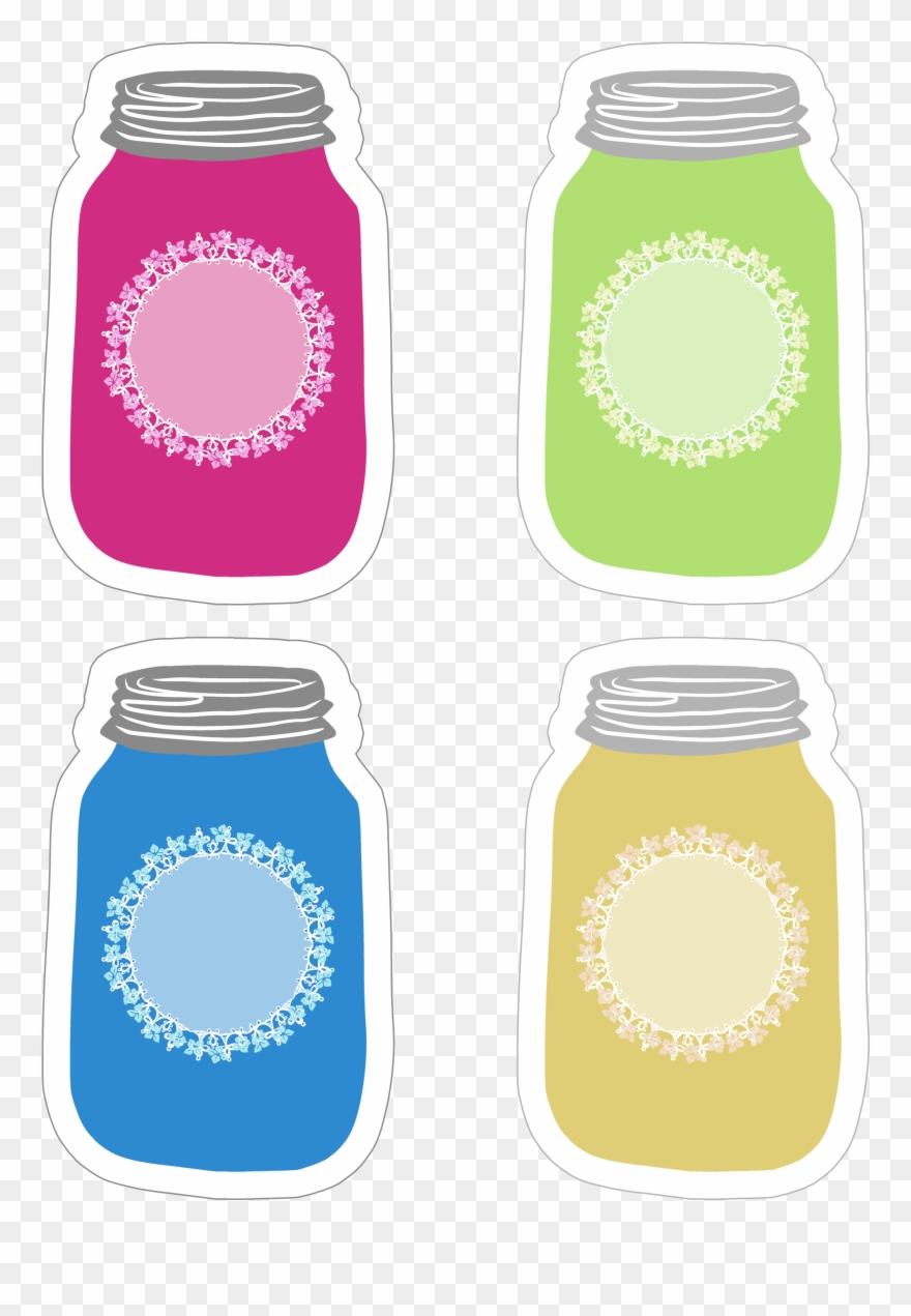 photograph regarding Free Printable Mason Jars titled Vibrant Mason Jar Tag Assortment Cost-free Printable - Mason Jar