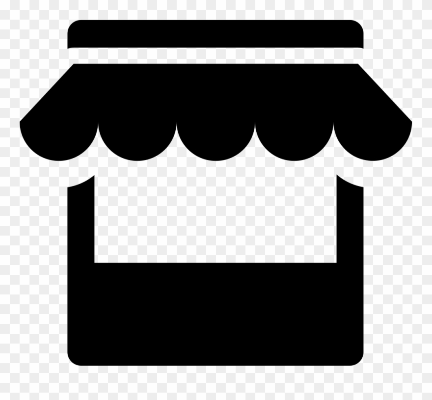Clipart Black And White Stock Store Svg Png Icon Free