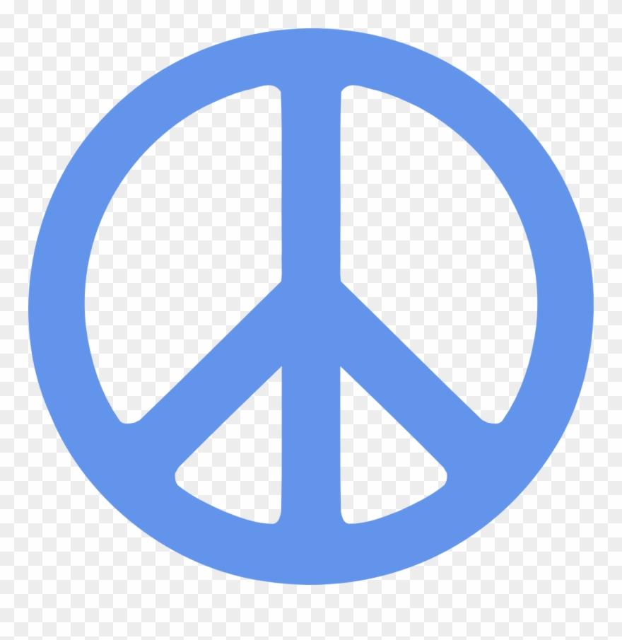 612e49f51 Peace Symbol Vector - Blue Peace Sign Clip Art - Png Download ...