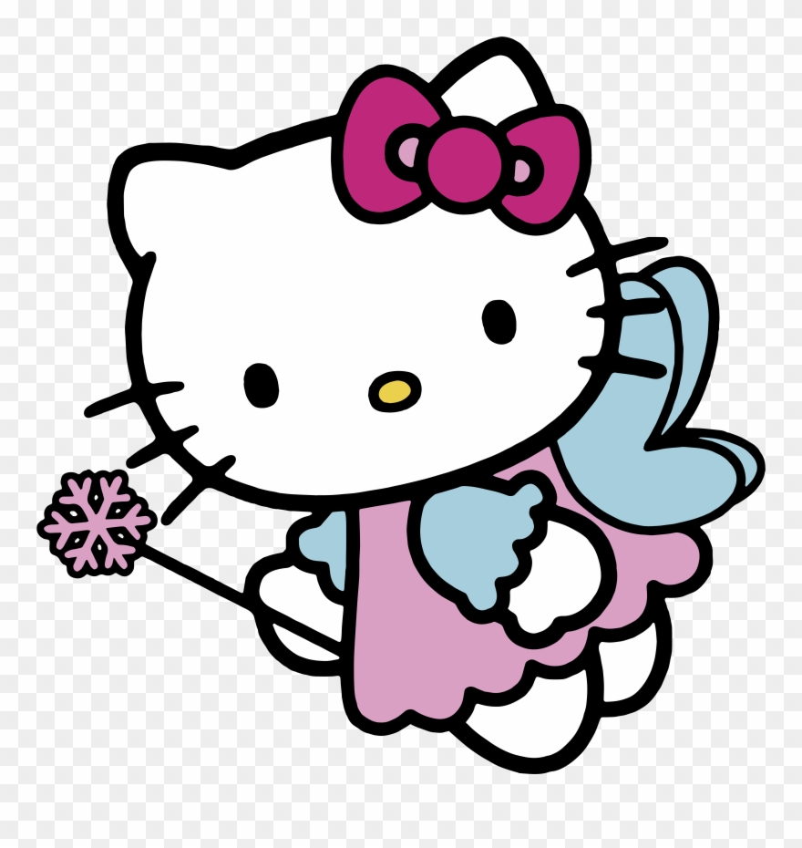 Page hello kitty angel clipart