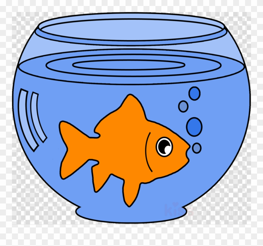Goldfish In A Bowl Clipart - Png Download