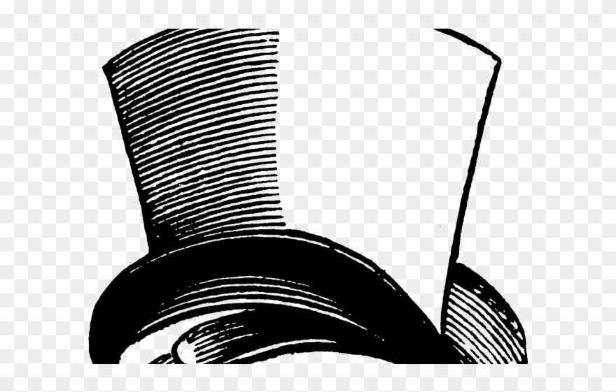 Upside Down Clipart Top Hat Mad Hatter Hat Black And White Png Download 1882229 Pinclipart