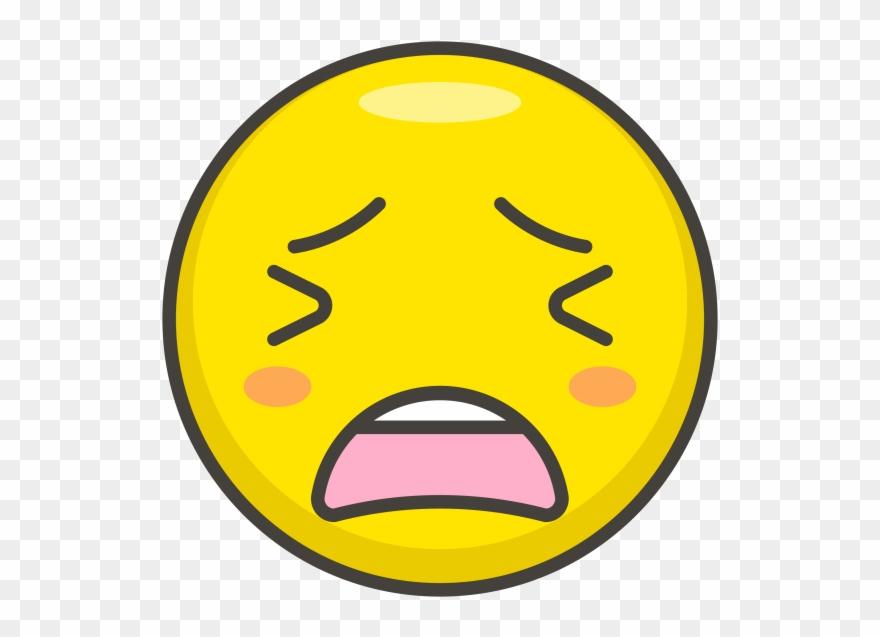 Tired Face Emoji - หน้า เหนื่อย Png Clipart (#1891425