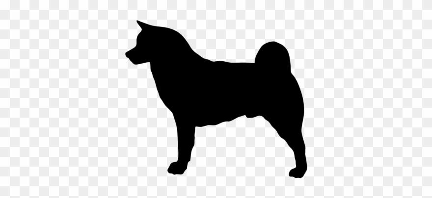 Dog Silhouette Outline At Getdrawings Com Free Akita Silhouette