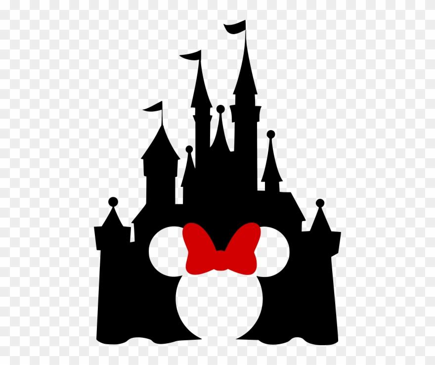 Disney Castle With Mickey Cutout - Disney Castle With Minnie Ears Clipart