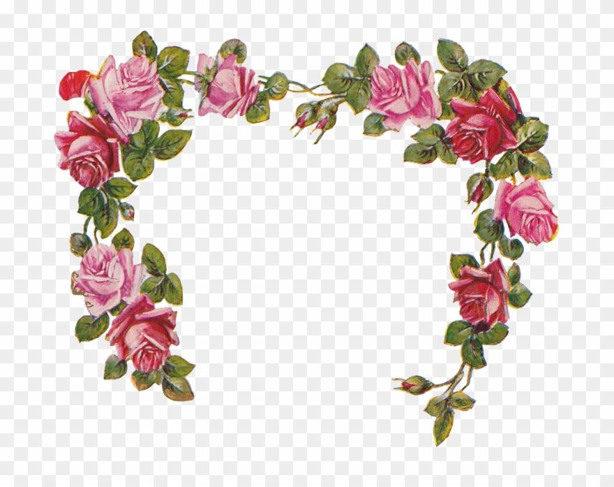Free Flower Banner - Flower Frame No Background Clipart ...