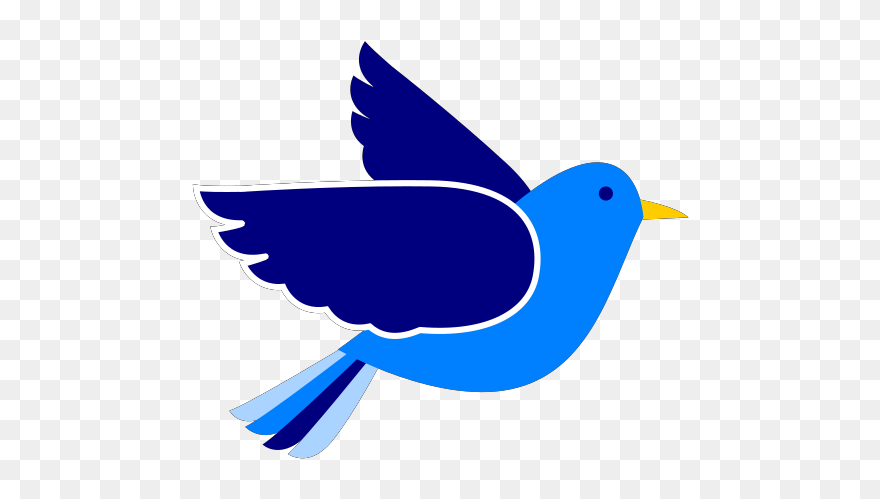 Bird flying. Pigeon clipart fly blue