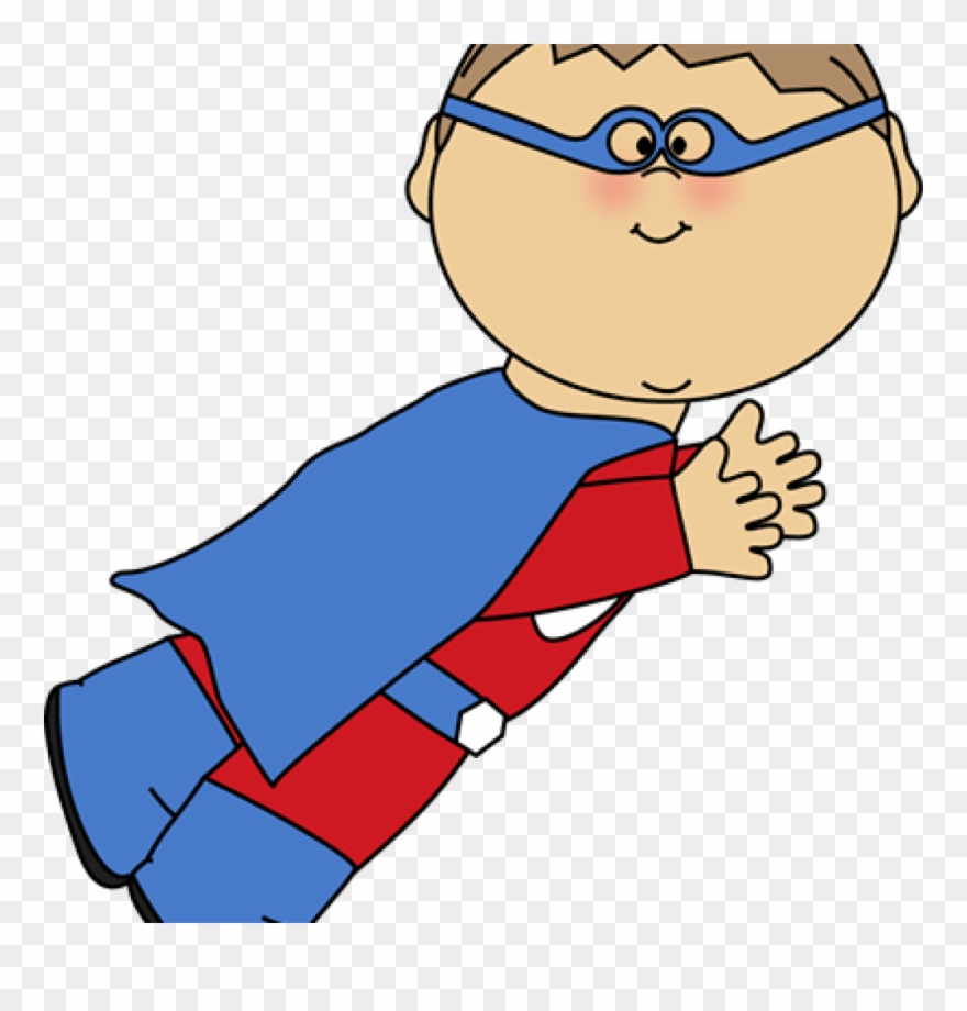 Superhero kid. Kids clipart clip art