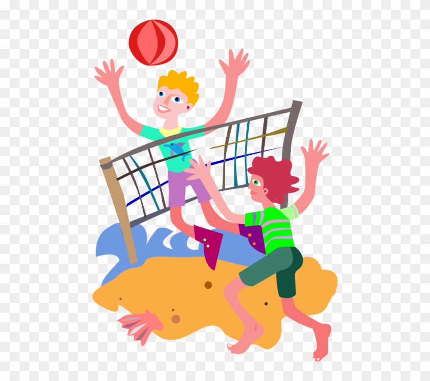 Volleyball beach. Clip art black and