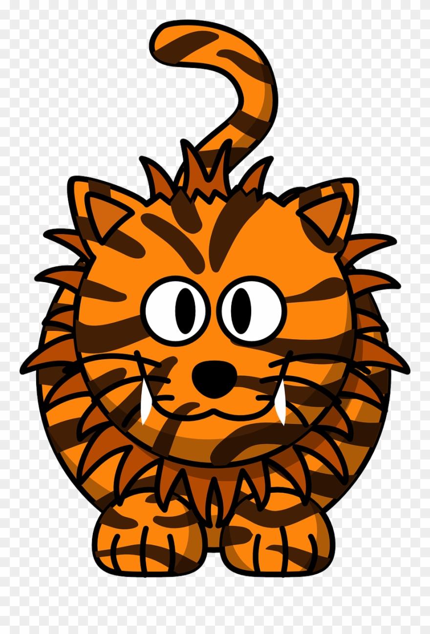 cat tiger animal cute hybrid liger lion orange gambar harimau kartun lucu clipart 1901891 pinclipart cat tiger animal cute hybrid liger