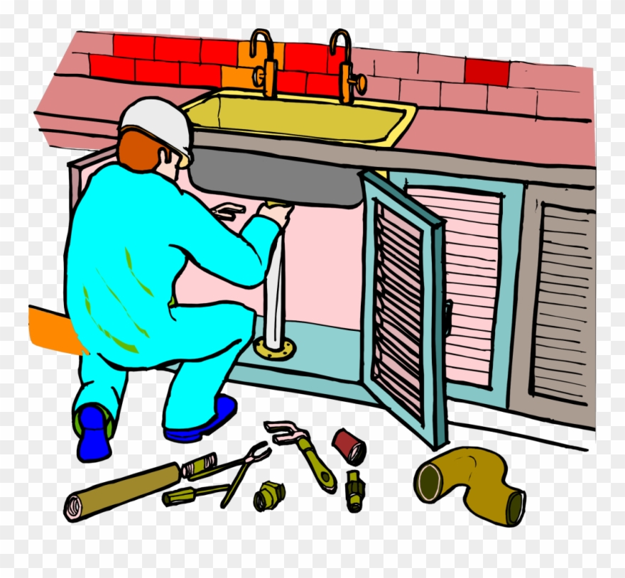Outstanding Plumber Fixing Kitchen Sink Picture Kitchen Clipart Home Interior And Landscaping Ymoonbapapsignezvosmurscom