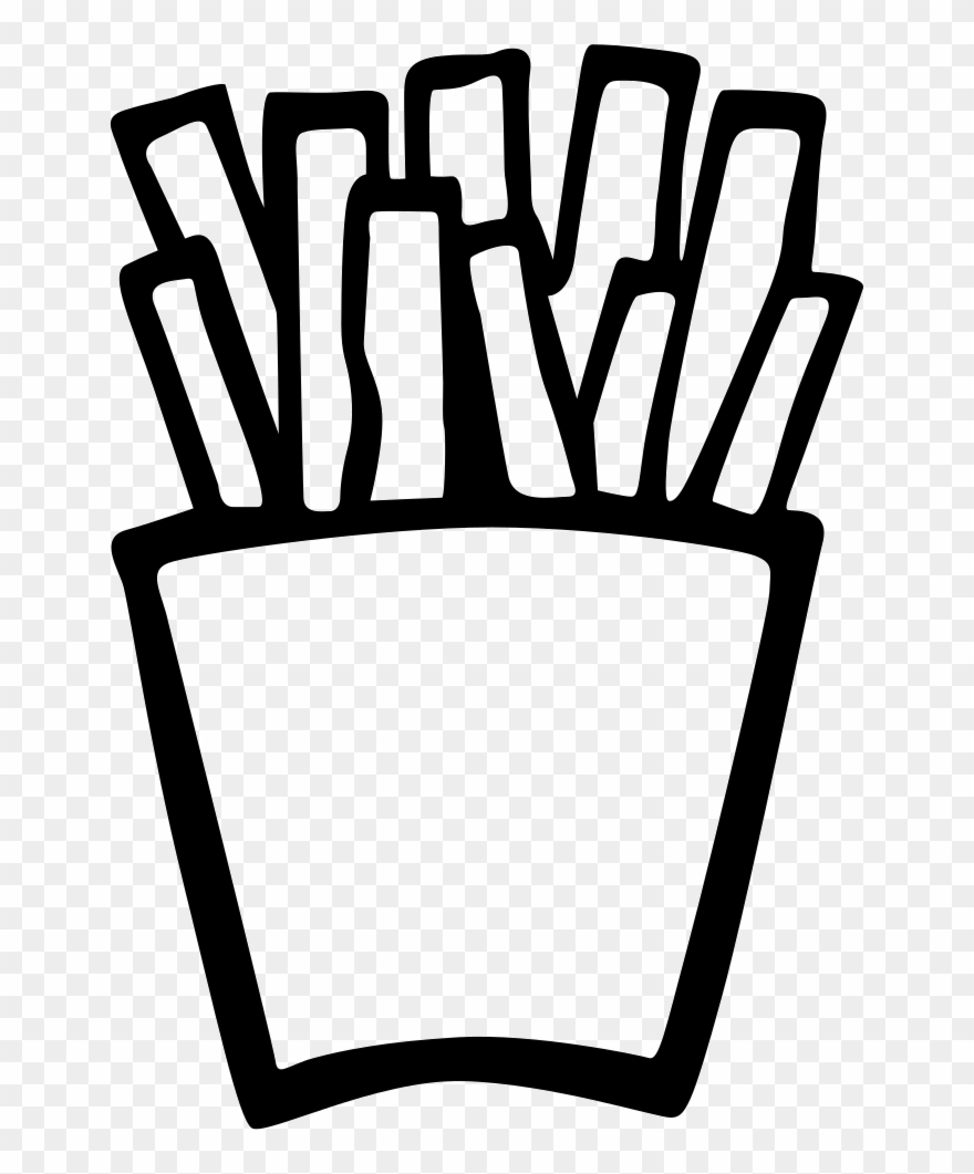 Fried Potatoes Hand Drawn Food Comments - French Fries Hand Drawn Png Clipart