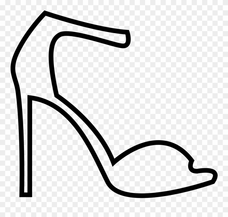 1848c59fa826 Summer High Heel Sandals Svg Png Icon Free Download - Png Icon Heels White  Clipart