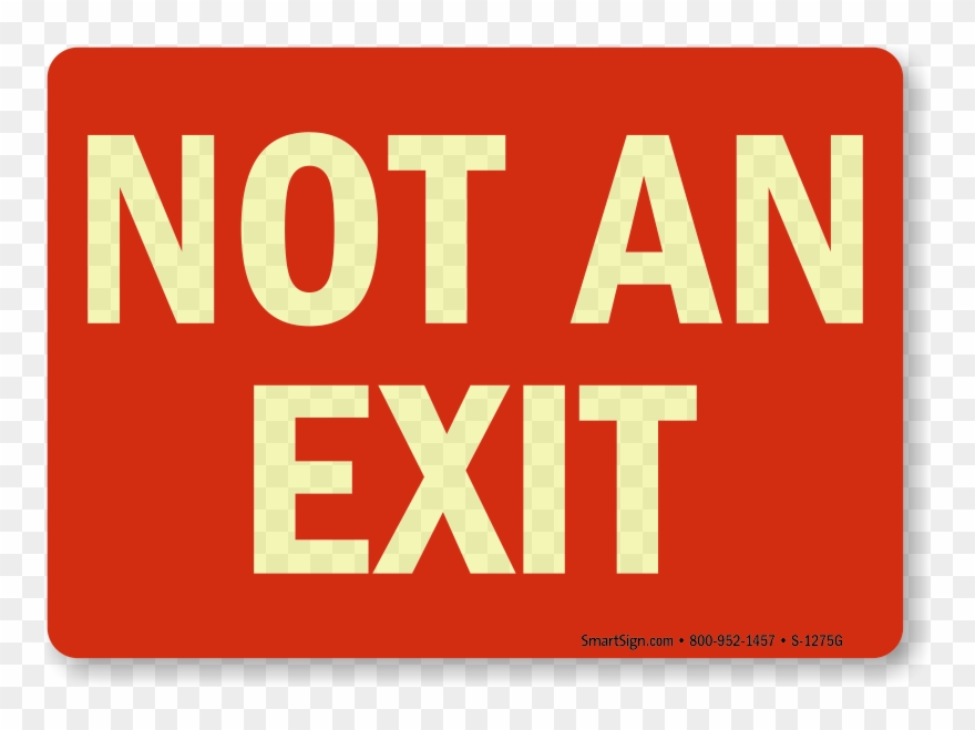 photograph relating to Printable Exit Signs referred to as Cost-free Printable Exit Symptoms Arrow Straight Front Indicator - Not A