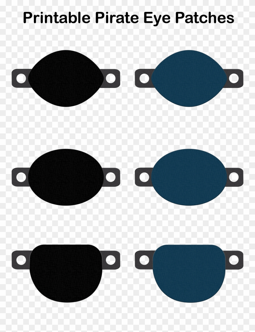 Eyelate Printable Photo Highest Pirate Eye Patch Print Out Clipart