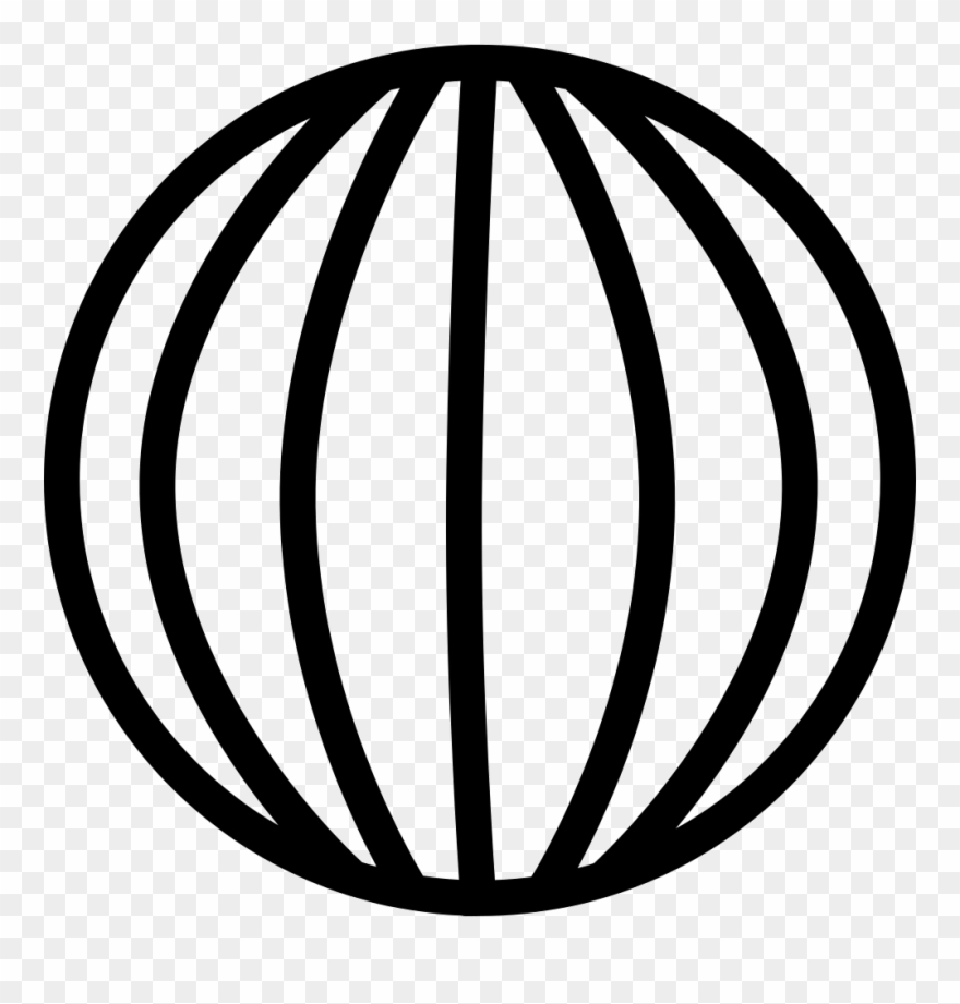 Globe grid. Earth with vertical lines