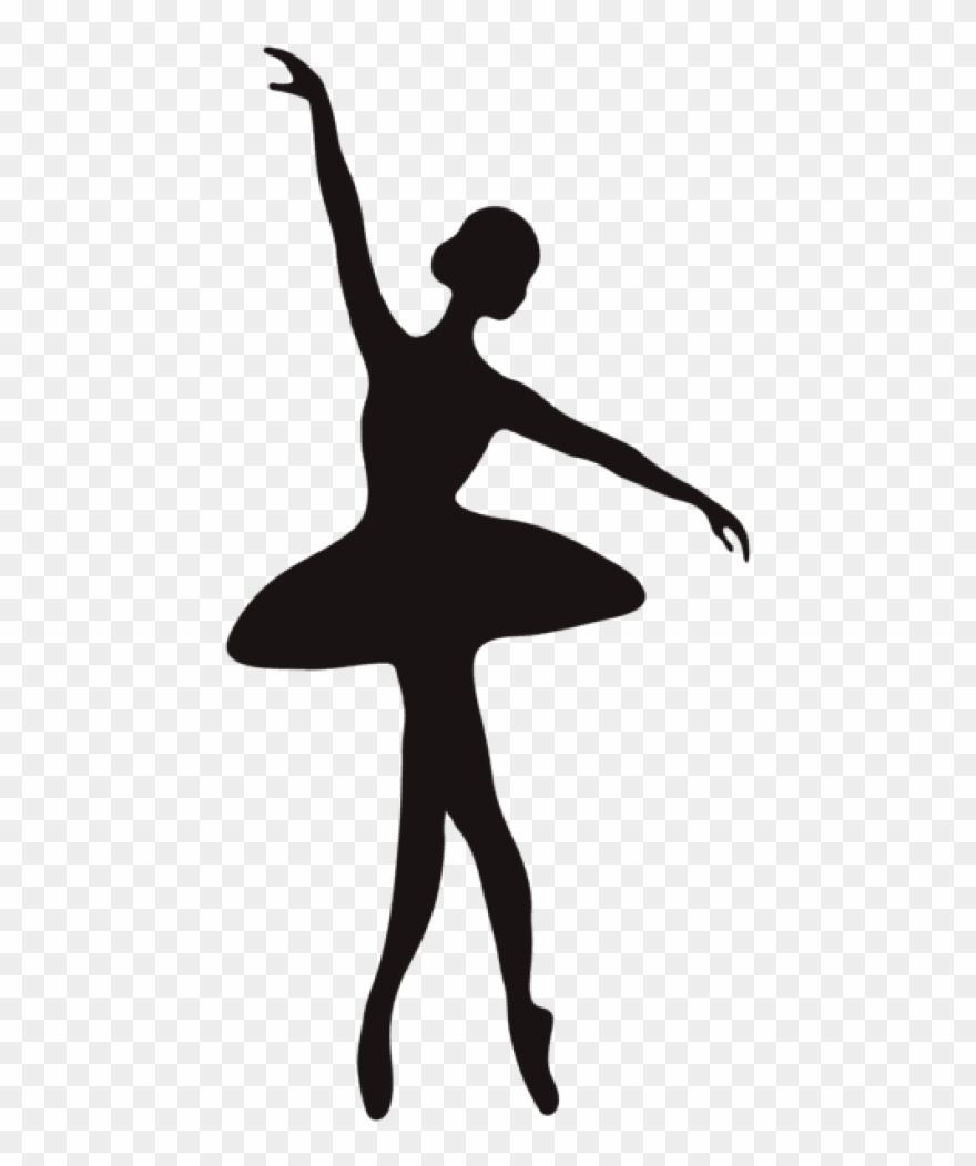 Ballerina Silhouette Png Ballerina Silhouette Transparent Background Clipart 1935541 Pinclipart