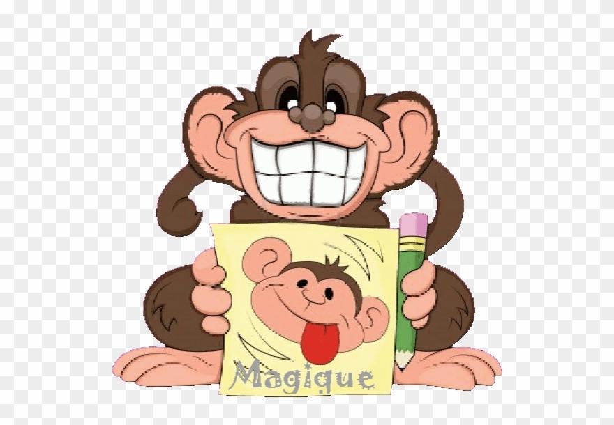 Illustration Drole De Singe Singe Gif Funny Monkey Clip Art Png Download 1942534 Pinclipart