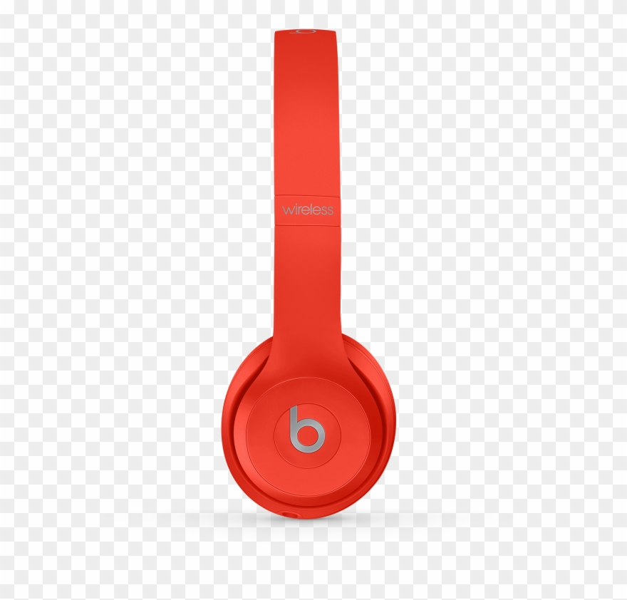 18a1e212a14 Headphones Clipart Orange - Beats Solo 3 Wireless Red - Png Download ...