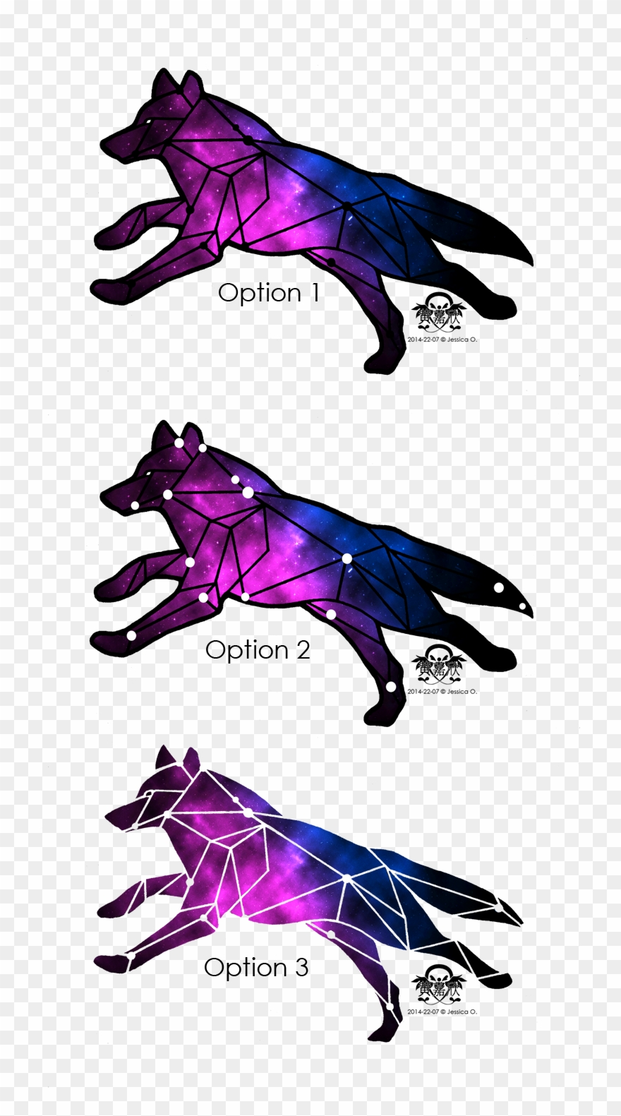 2b06cf9cd Wolf Tattoo Design Based - Lupus Constellation Tattoo Clipart ...