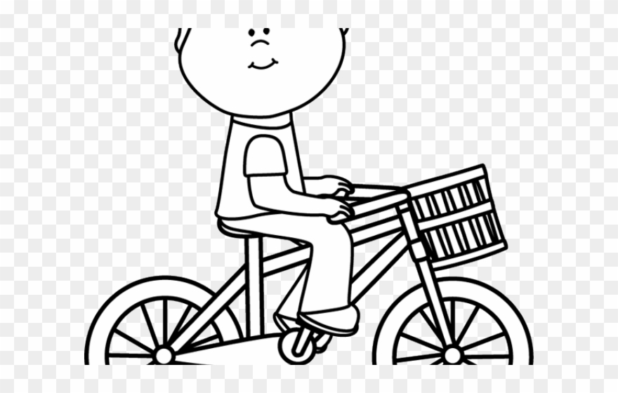Cycling Clipart Childrens Bike Bike Clipart Black And White Png Transparent Png 1952534 Pinclipart