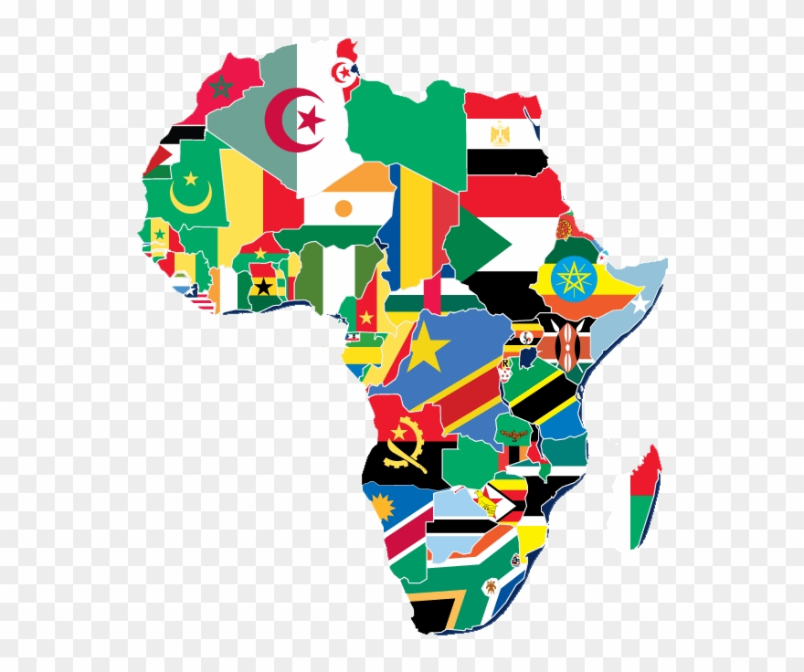 Map Of Africa Flags.Yasharalites In Africa Africa Flag Map Clipart 1960725