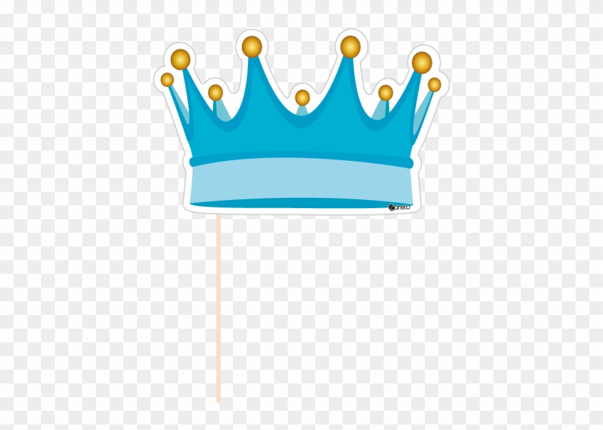 Party Photobooth Props Figure Blue Crown Svg Black Booth